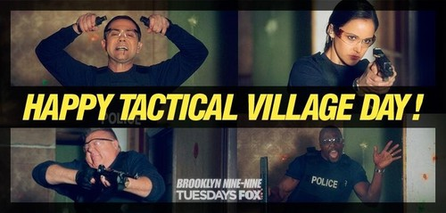Brooklyn Nine-Nine karatasi la kupamba ukuta titled Tactical village