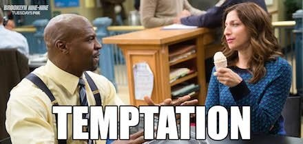 Brooklyn Nine-Nine karatasi la kupamba ukuta entitled temptation