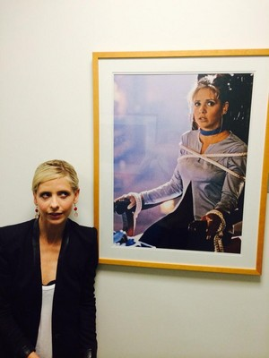 Sarah With a Buffy Photo