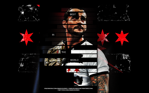 CM Punk wallpaper probably with a sign titled CM Punk - Best In The World - Wallpaper By AR