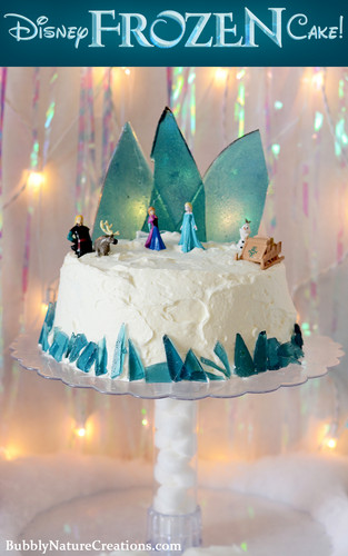 Cakes wallpaper with a lampshade titled Frozen Cake