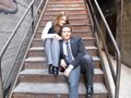 Stana and Seamus - castle photo