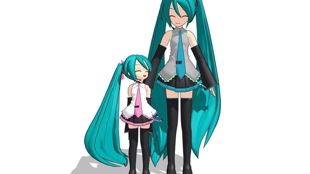 Hatsune and Petite Miku