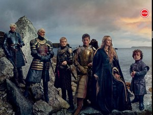 Cersei Lannister, Tywin, Tyrion, Jaime, Joffrey and Brienne