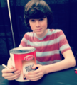 Chandler signed pudding for a fan a couple of weeks ago :D