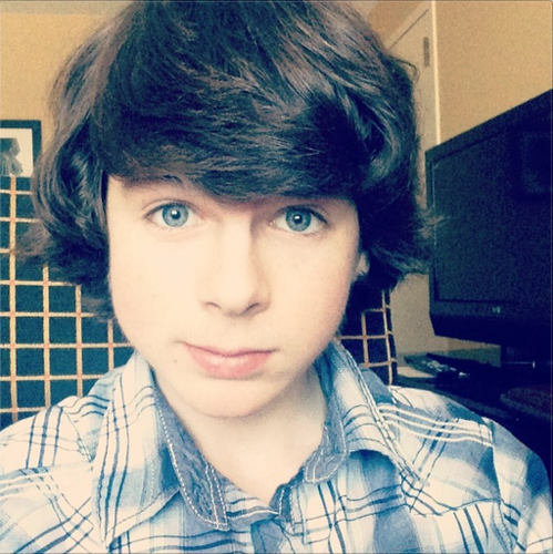 Chandler Riggs Hintergrund entitled Chandler selife :)