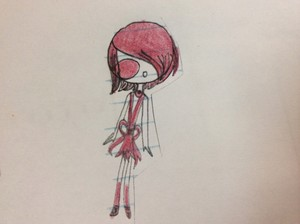 Chiloid Anise in a prom dress