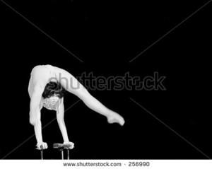 Hand balance contortion