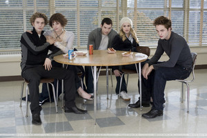 Jasper, Alice, Emmett, Rosalie and Edward