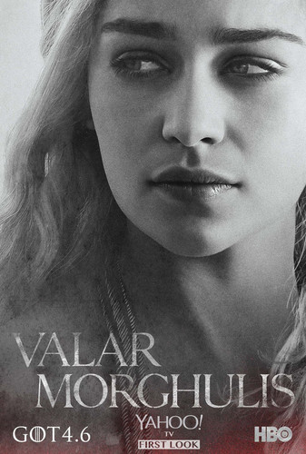 Daenerys Targaryen wallpaper with a portrait entitled Daenerys Targaryen - Character Poster (Season 4)