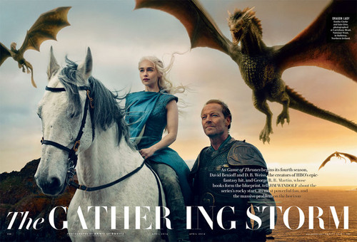 Daenerys Targaryen wallpaper containing a lippizan, a horse wrangler, and a horse trail entitled Vanity Fair Season 4 Promo