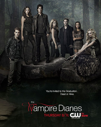 Damon & Elena wallpaper probably containing a wickiup, a pacific walrus, and an atlantic walrus called The Vampire Diaries Season 5 Poster