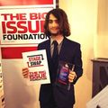 Daniel Radcliffe With The Big issue Foundation On W.O.S Awards (Fb.com/DanieljacobRadcliffeFanClub) - daniel-radcliffe photo