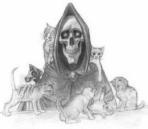 death and his cats