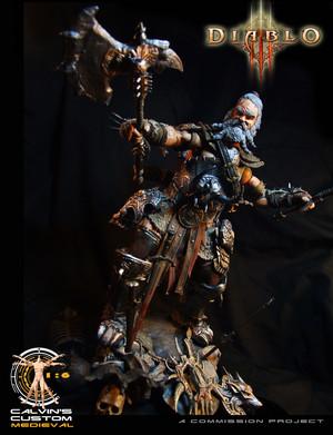 Calvin's Custom One Sixth Scale Diablo 3 Barbarian