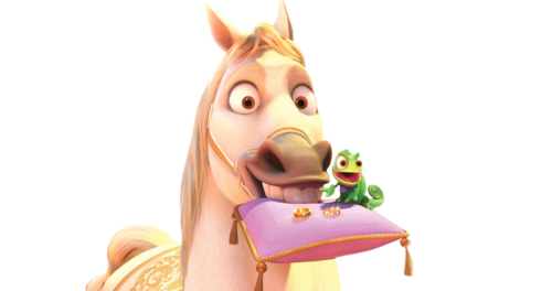 Disney Princess Sidekicks Hintergrund titled Maximus and Pascal