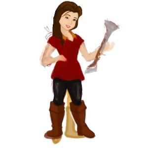 Belle as Gaston.
