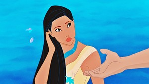Disney Princess Screencaps - Pocahontas & Captain John Smith