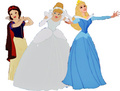 The classics on a white backdrop! - disney-princess photo