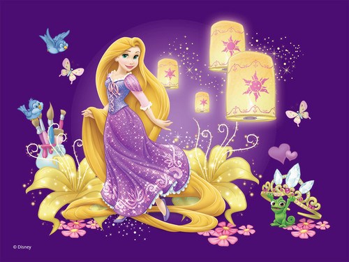 Disney Princess wallpaper possibly containing a bouquet titled Rapunzel