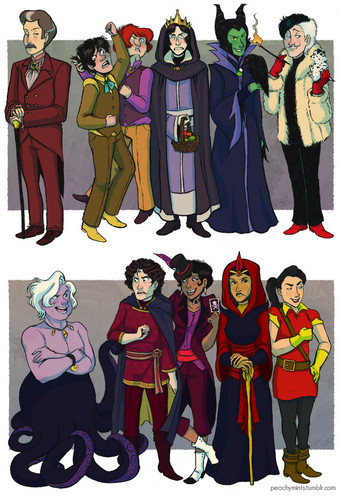 villanos de disney fondo de pantalla titled Gender Bent Villains