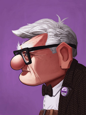 Carl from Up by Mike Mitchell