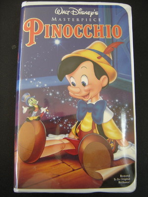 """Pinnochio"" On halaman awal kaset video"