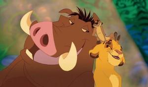 Pumbaa, Timon and Simba