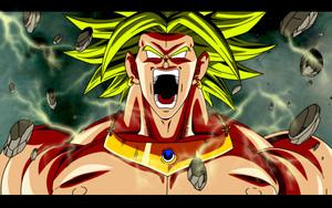 Angry Broly Legendary Super Saiyan.