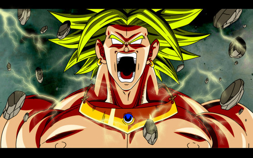 Dragon Ball Z fond d'écran containing animé called Angry Broly Legendary Super Saiyan.