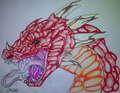 A Legendary Red Dragon  - dragons fan art