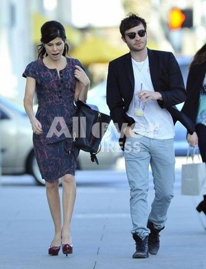 Ed Westwick out of Coffee boon in Beverly Hills with misterious brunette friend.
