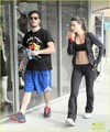 Ed Westwick Hits the Gym with Mystery Brunette - ed-westwick photo