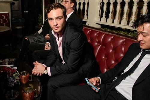 Ed Westwick at Vanity Fair Young Hollywood Party, Feb 25,2014