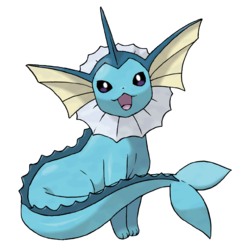 Vaporeon, the bubble jet pokemon