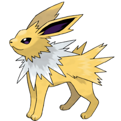 Jolteon, the lightning pokemon