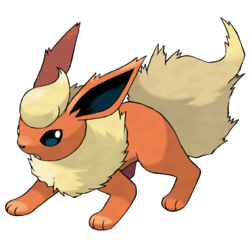 Flareon, the flame pokemon