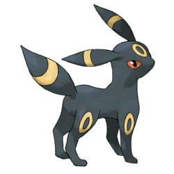 Umbreon , the moonlight pokemon