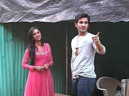 karan on set of krystel new show♥♥