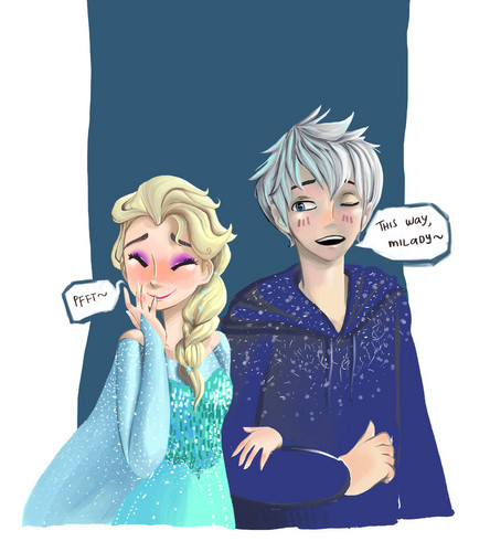 Elsa & Jack Frost wallpaper entitled Happiness and Laughter