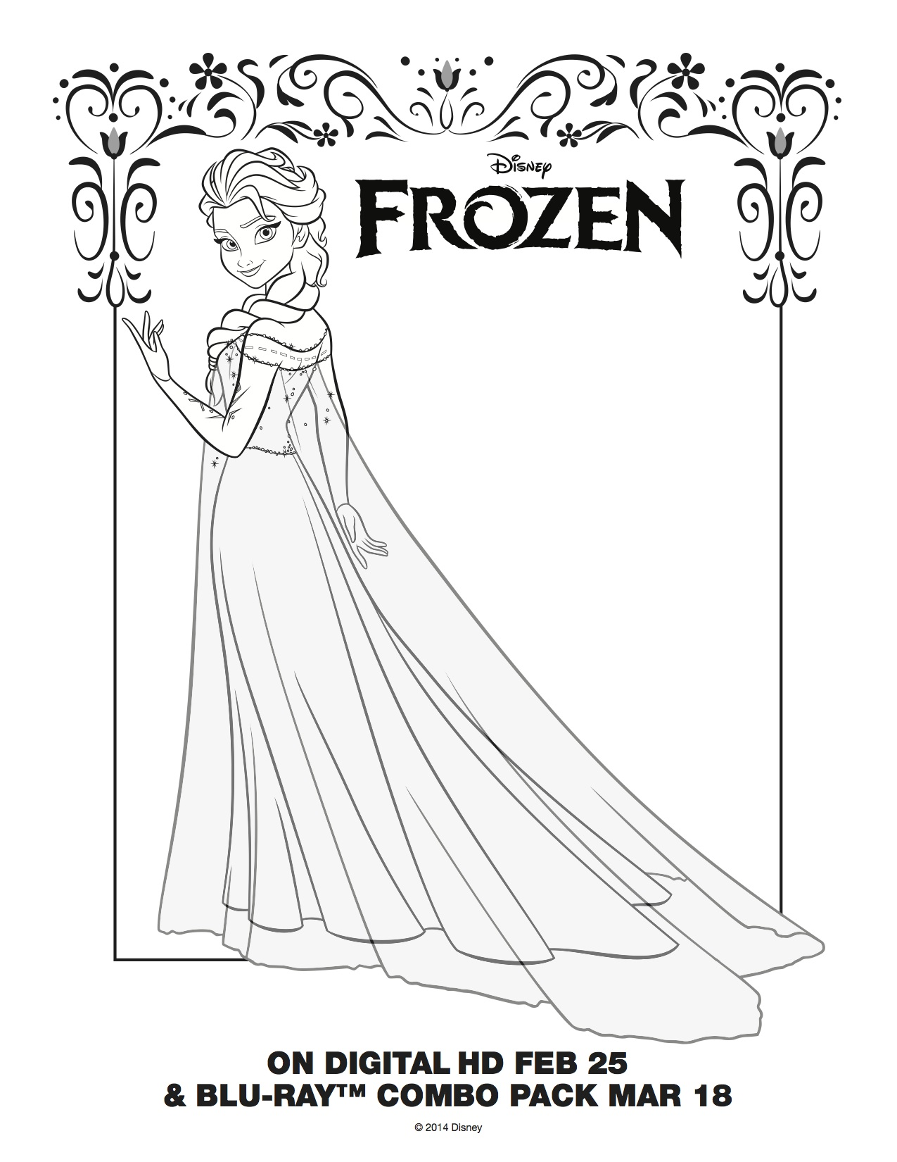 Frozen coloring pages big