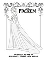 Frozen - Uma Aventura Congelante - Elsa Coloring Page