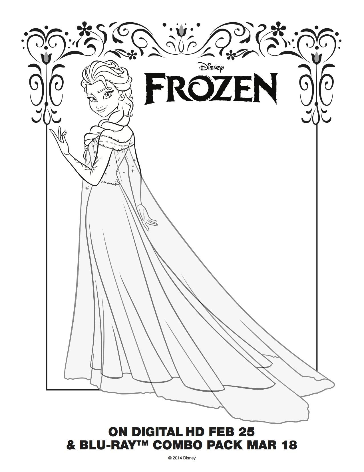 Frozen - Elsa Coloring Page