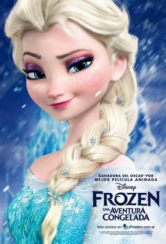 Elsa the Snow क्वीन वॉलपेपर with a portrait called फ्रोज़न Elsa Poster