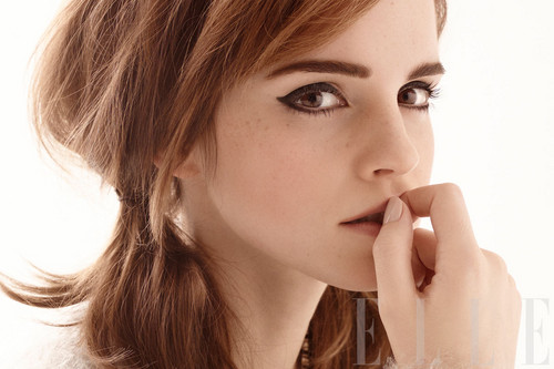 Emma Watson fond d'écran possibly containing a portrait called Elle US Photoshoot