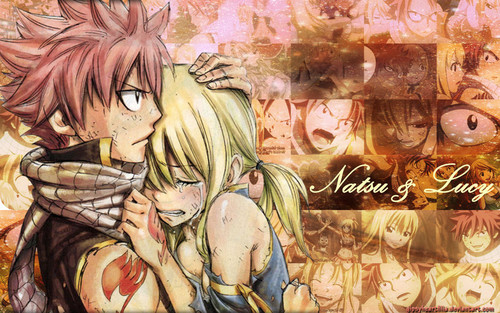 Fairy Tail Обои with Аниме entitled NaLu <3