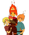 Flinn Future and Fire Kingdom Royalty - flame-princess fan art