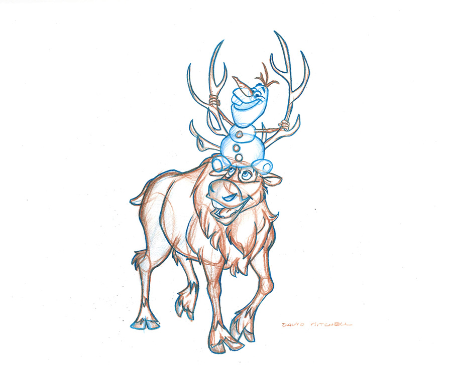 disney frozen sven drawing - photo #11