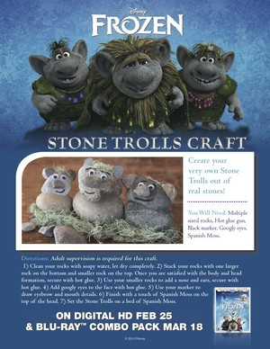Frozen - Stone Trolls Craft