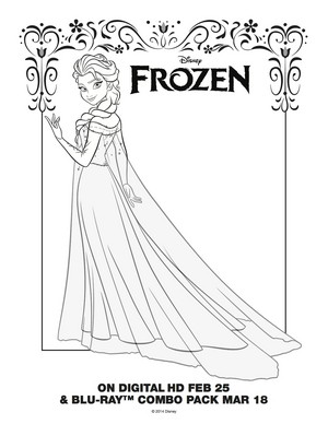 La Reine des Neiges - Elsa Coloring Page